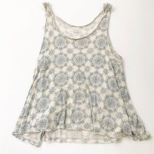 We The Free People Tank Aztec Oversized Top S